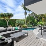 Outdoor deck and pool